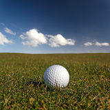 Golf ball. On the fairway royalty free stock image