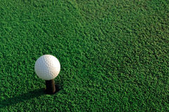Golf ball. On the artificial green grass Royalty Free Stock Photography