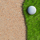 Golf ball. On green field royalty free stock images