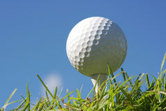 Golf Ball. On a tee Royalty Free Stock Images