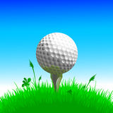 Golf ball. This illustration can be used for your design Royalty Free Stock Photo
