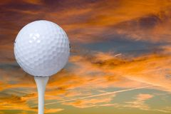 A golf ball Royalty Free Stock Image