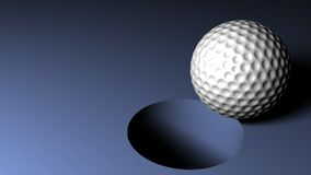 Golf Ball. A golf ball with high detail going into the hole stock illustration