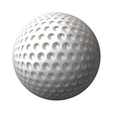 Golf ball. A great 3d rendered golf ball isolated on white background Stock Photos