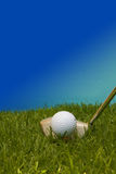 Golf ball. Golf ball on the tee ready to be hit Stock Photos