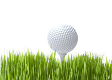 Golf ball. On white background close up Stock Photography