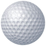 Golf ball. 2D computer illustration, gradient fill only Stock Image