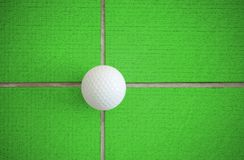 Golf ball. On the line crossing Stock Images