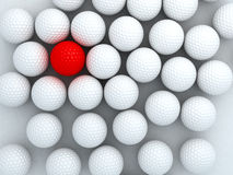 Golf Ball. A special red golf ball Stock Image