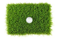 Golf ball from above Royalty Free Stock Photo