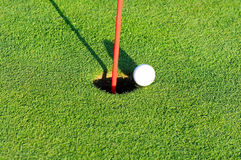 Free Golf Ball At The Flag Stock Photos - 7210933