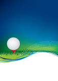 Golf ball on background with copy area space. Golf ball on a background with message space uses gradient mesh Stock Images