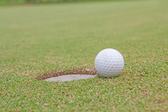 Golf ball. Background hole  lifestyle sand sport Royalty Free Stock Photos