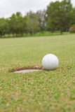 Golf ball. Background hole  lifestyle sand sport Stock Image