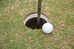 Golf ball. Background hole  lifestyle sand sport Stock Photos