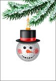 Golf ball bauble in black hat Royalty Free Stock Photography