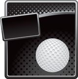 Golf ball on black halftone banner template Royalty Free Stock Photo