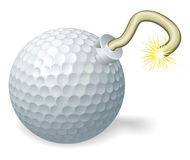 Golf ball bomb concept Royalty Free Stock Images