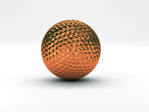 Golf ball brass Royalty Free Stock Photo
