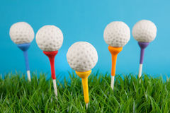Golf ball cake pops Stock Photography