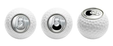 Golf ball can isolated stock photography