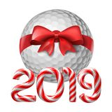 Golf ball with candy cane