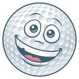 Golf Ball Cartoon Character. Vector illustration of a cartoon golf ball character royalty free illustration