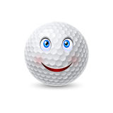 Golf ball cartoon character Stock Photo