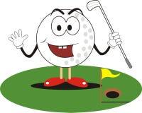 Golf ball cartoon Royalty Free Stock Image