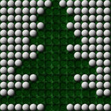 Golf ball christmas tree Royalty Free Stock Photo