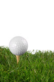 Golf ball close-up Stock Photos