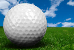 Golf ball close-up Royalty Free Stock Photo