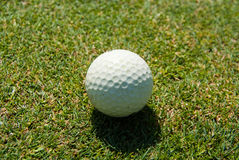 Golf ball close-up Royalty Free Stock Photos