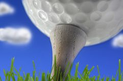 Golf ball closeup Royalty Free Stock Photography