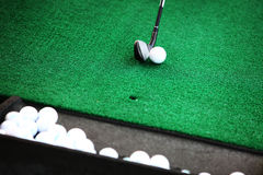 Golf ball and club Royalty Free Stock Photography