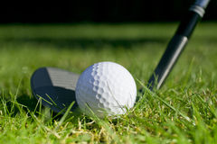 Golf ball and club royalty free stock images