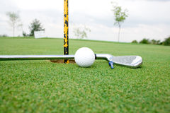 Golf Ball and Club view 1 Royalty Free Stock Images