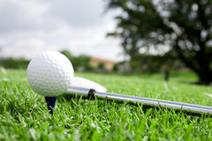 Golf ball and Club view 4 Royalty Free Stock Photography