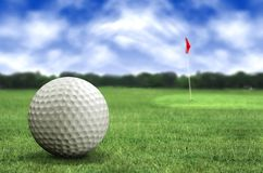 Golf ball in a course Stock Image