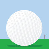 Golf ball on the course Royalty Free Stock Photo