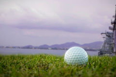 Golf-ball on course aboard ship Royalty Free Stock Images