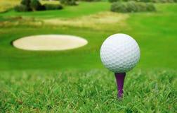 Golf ball on course Royalty Free Stock Photos