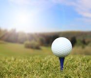 Golf ball on course Stock Photo