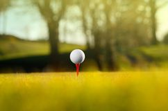 Golf ball on course royalty free stock images