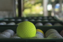 Golf ball on the course, Driving Range Royalty Free Stock Photos