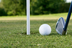 Golf ball on the course Royalty Free Stock Images