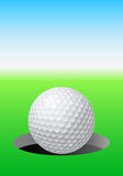 Golf ball. On golf course. Illustration for design Royalty Free Stock Images