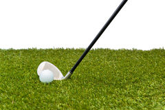 Golf-ball on course Stock Image