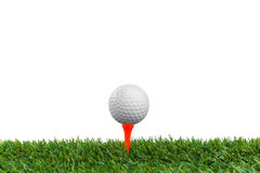 Golf-ball on course stock photography