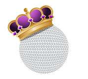 Golf ball with a crown Stock Images
